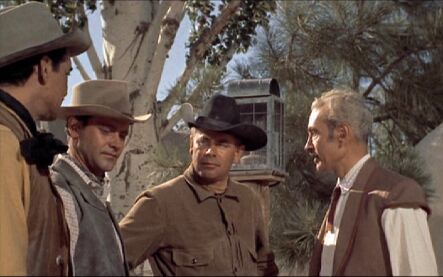 Jack Lemmon and Glenn Ford in a scene from Cowboy