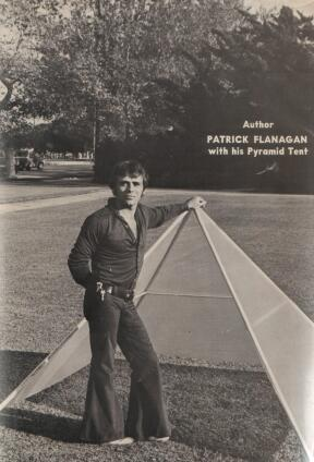 Author Patrick Flanagan with his Pyramid Tent